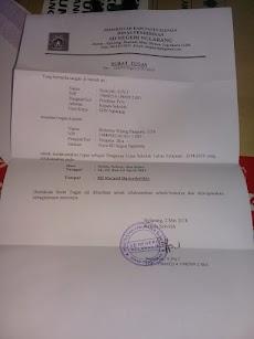 Contoh Surat Tugas Pengawas Ujian Sekolah