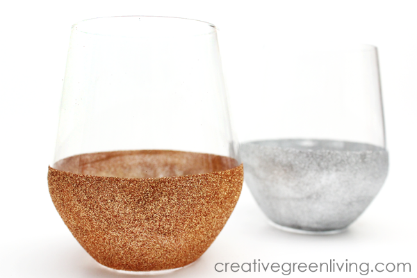 How to make washable glitter wine glasses
