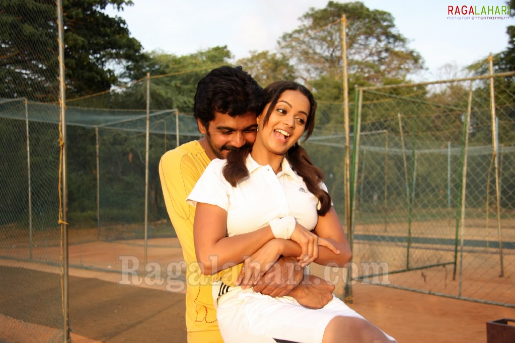 Indian Actress Bhavana Hot Boobs Press In Tamil Movie Song-6508
