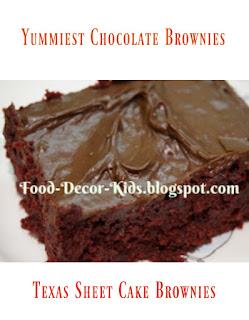 Texas sheet cake brownies food-decor-kids.blogspot.com