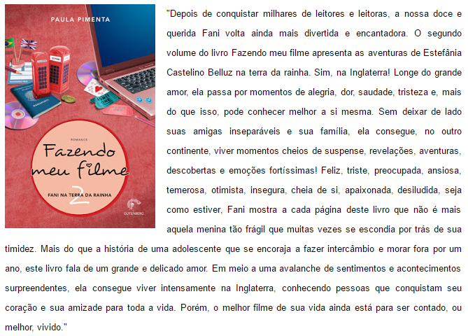 FAZENDO MEU FILME 2 - FANI NA TERRA DA RAINHA - PAULA PIMENTA