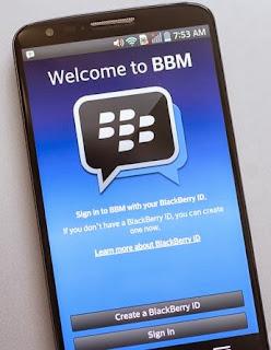 Handphone android apa saja yang bisa di pasang BBM