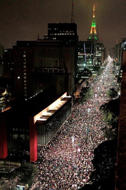 Avenida-Paulista-SP-17 de junho de 2013 a manifestação golpista.