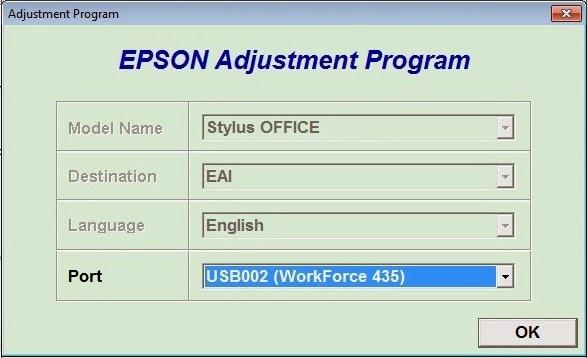 epson workforce 435 seleccionando el puerto usb donde esta conectado la impresora