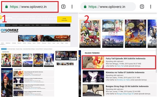 Cara Lengkap Download Anime Di Oploverz Dengan HP Android dan Laptop 2019