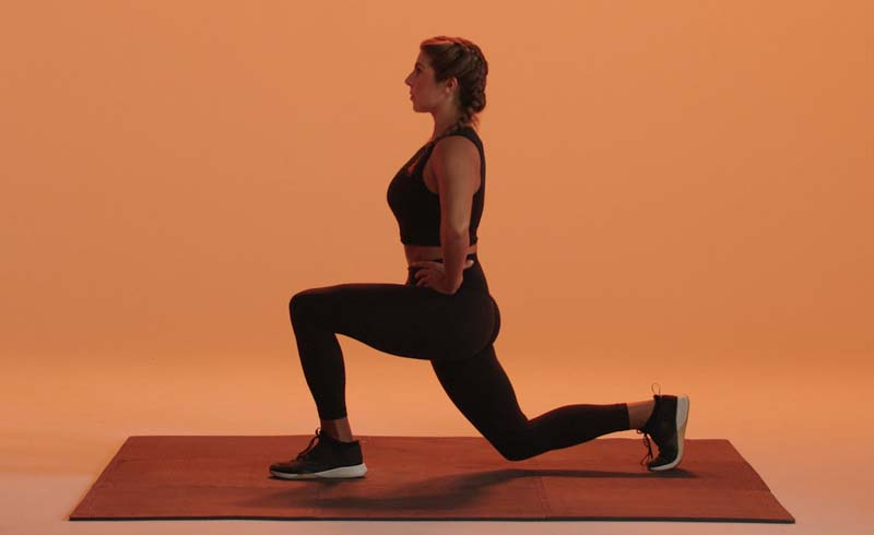 Reverse lunges, reverse lunge exercise