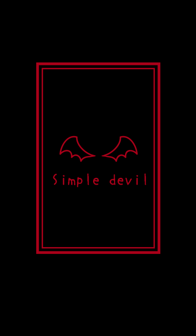 Simple devil theme