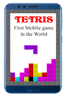 World's first mobile game TETRIS