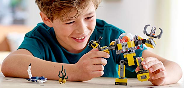 LEGO Creator Underwater Robot Building Blocks for Kids