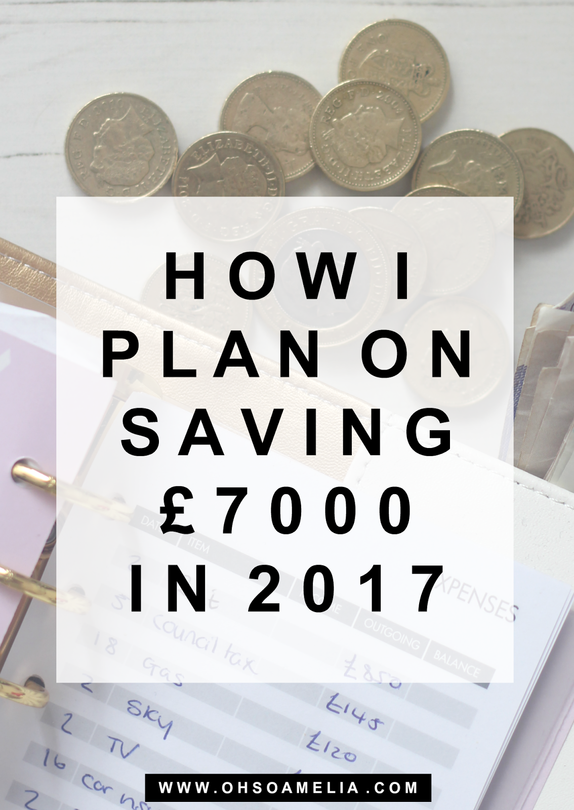 How I plan on saving £7000 in 2017