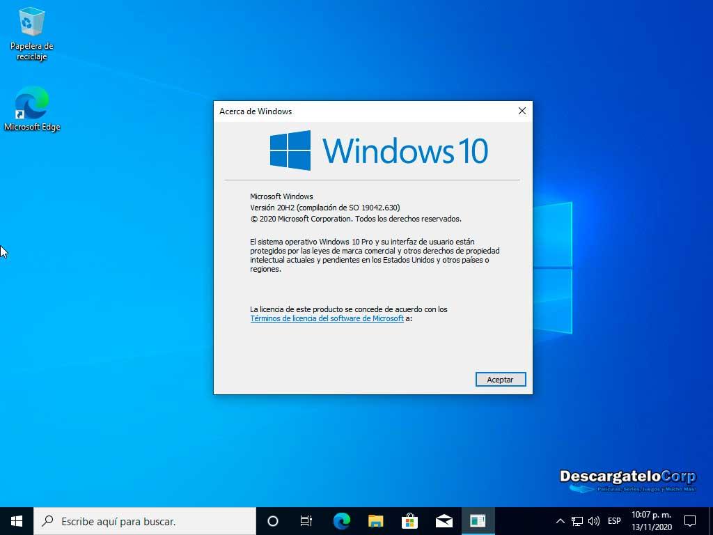 Windows 10 Pro AIO Español Noviembre 2020