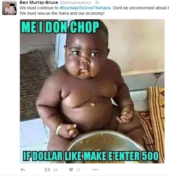 See Hilarious Meme Senator Ben Muray-Bruce Shared On Twitter On Buying Made-in-Nigeria