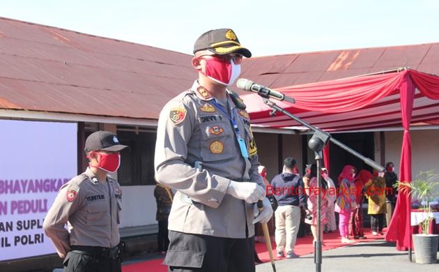 Peduli Anggota Polri, Kapolres Barsel Salurkan Bantuan Bhayangkari Pusat