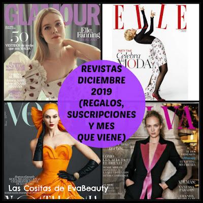 Revistas diciembre 2019 belleza, moda, regalos y suscripciones