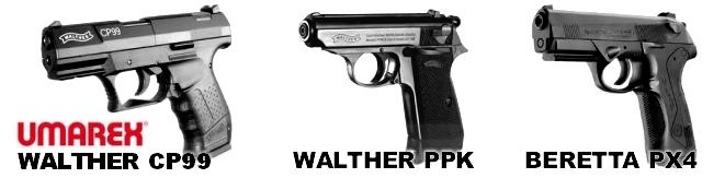 Airgun pistols