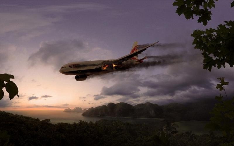 падающий самолёт