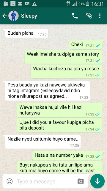 Sleepy David's Dirty Photos With Unidentified Lady Leaked!!