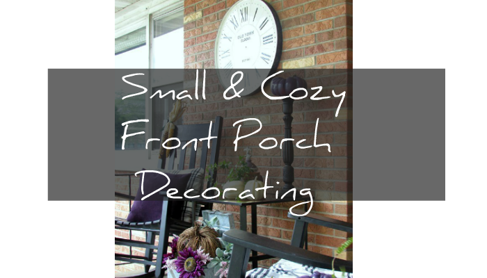 How to decorate a small porch or patio with huge Fall Impact