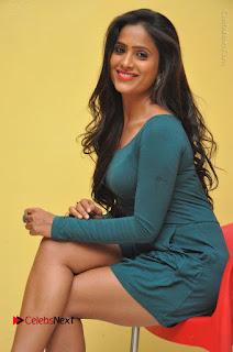 Telugu Actress Prasanthi Stills in Green Short Dress at Swachh Hyderabad Cricket Press Meet  0061.JPG