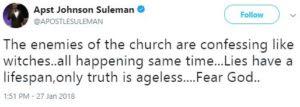 Apostle Johnson Suleman