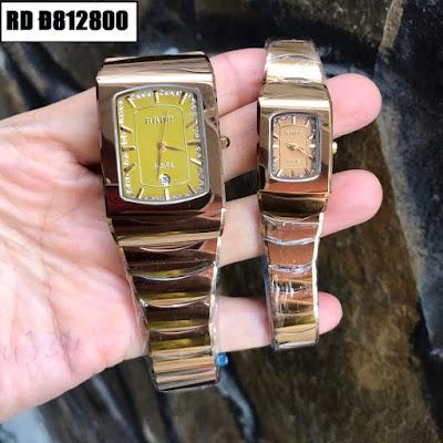 Đồng hồ cặp đôi Rado mặt vuông RD Đ812800