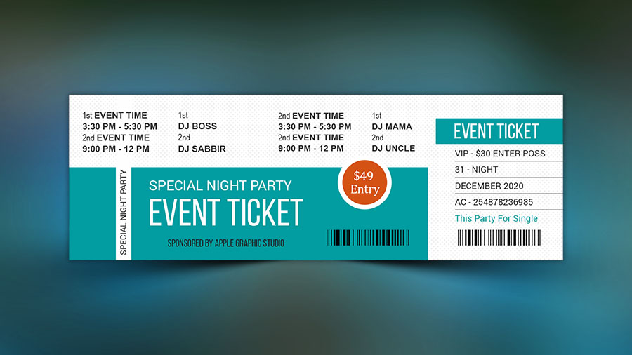 how to make a best event ticket photoshop tutorial apple graphic