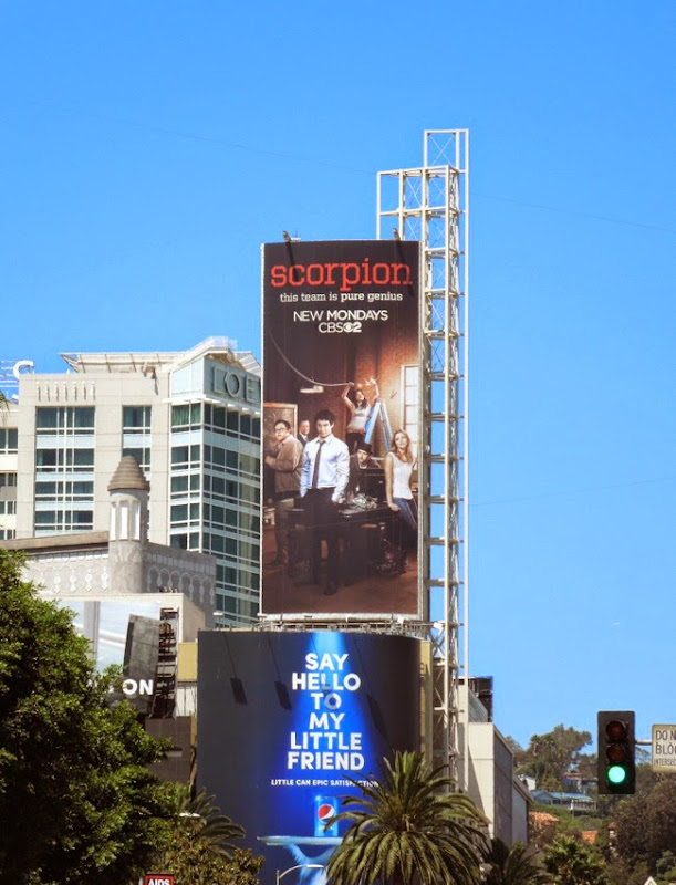 Scorpion series premiere CBS billboard