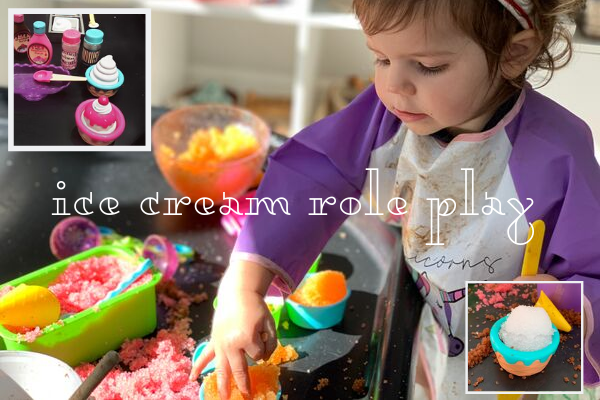 ice cream parlour sensory tuff tray role play