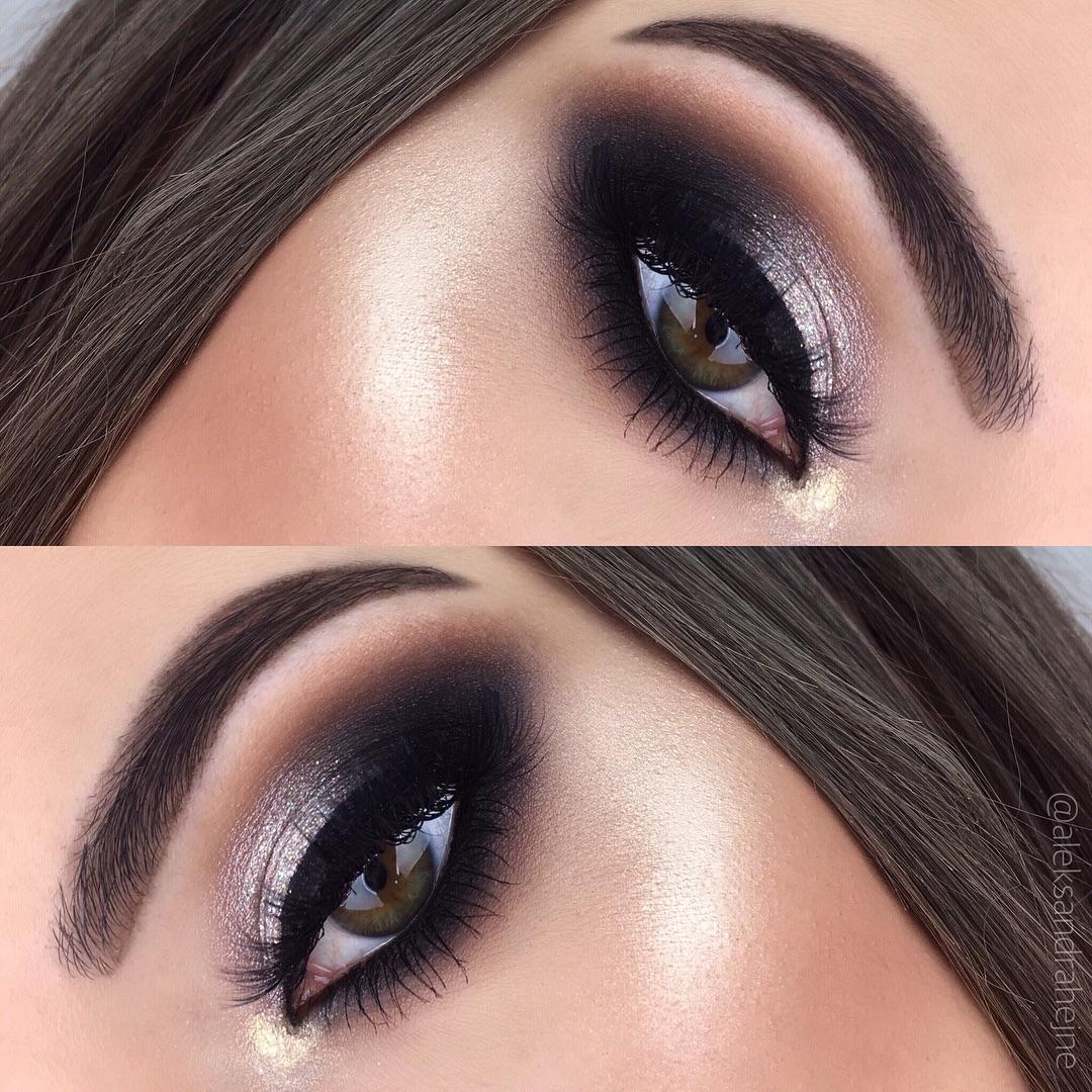 Maquiagem - sombra tons prata