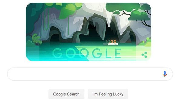 Google praises the Puerto Princesa River with Doodle