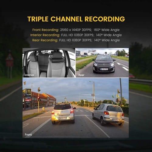 Review Zenfox T3 3CH 2K 3 Channel Dash Cam