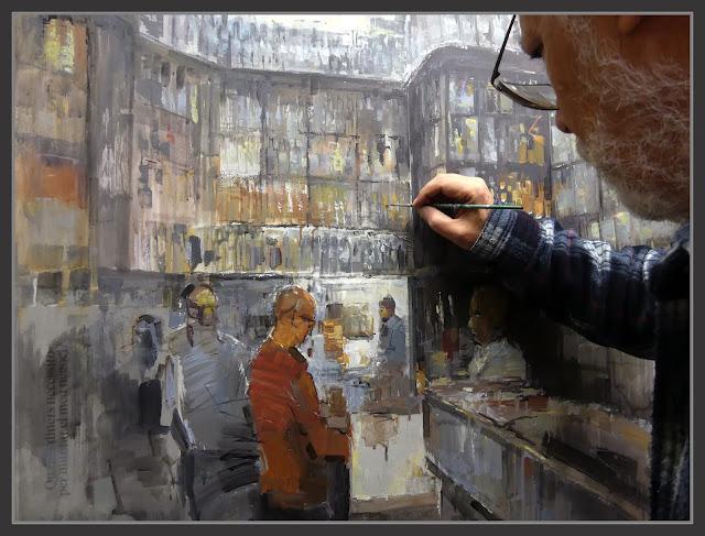 COLMADO QUILEZ-PINTURA-BOTIGUES-HISTORIQUES-QUEVIURES-BARCELONA-FOTOS-PINTANT-INTERIORS-PINTOR-ERNEST DESCALS