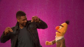 Usher, celebrity, Bert, the Word on the Street unique, Sesame Street Episode 4419 Judy and the Beast season 44