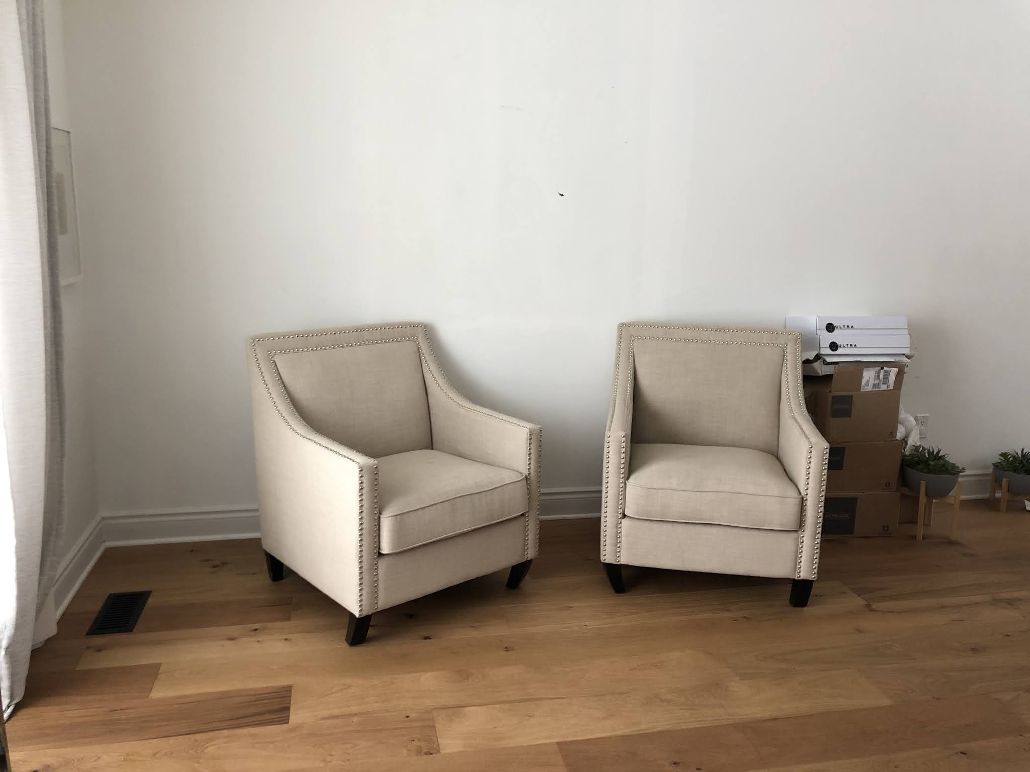 Modern Living Room Makeover - before