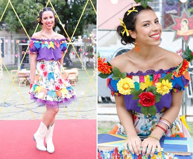 Urbana (Maria Paula Lima), figurino festa junina, I Love Paraisópolis