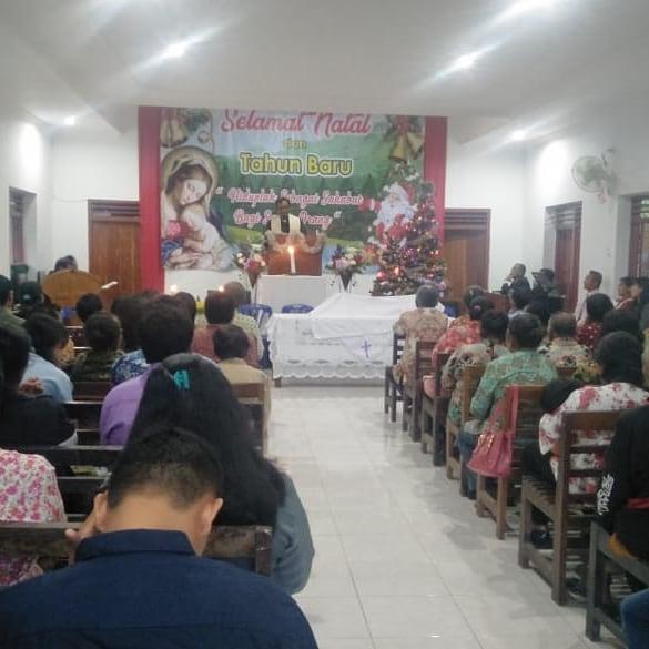 Pengamanan Giat Ibadah Gereja Awal Tahun 2020