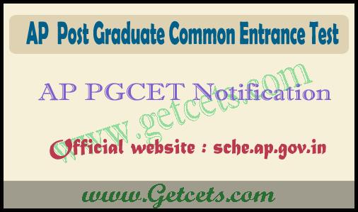 AP pg entrance exam 2021-2022, ap pgcet notification @sche.ap.gov.in