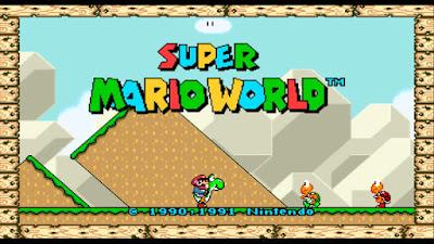 super mario world 16:9 widescreen panoramico