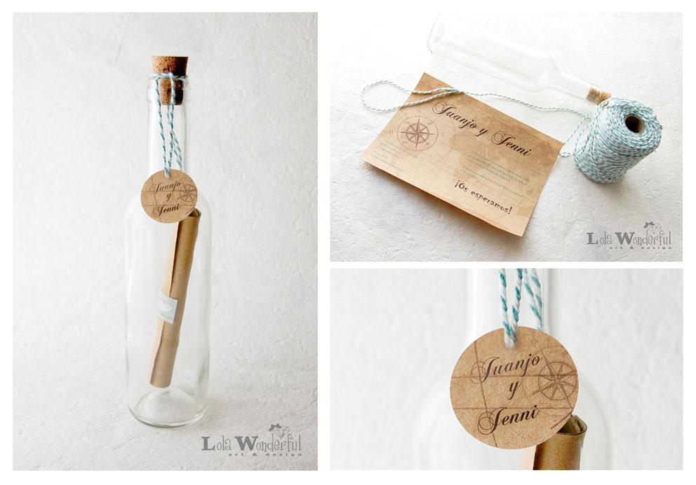 Lola Wonderful Regalos Personalizados Y Diseno Para Eventos Bodas - Invitaciones-de-boda-en-botella