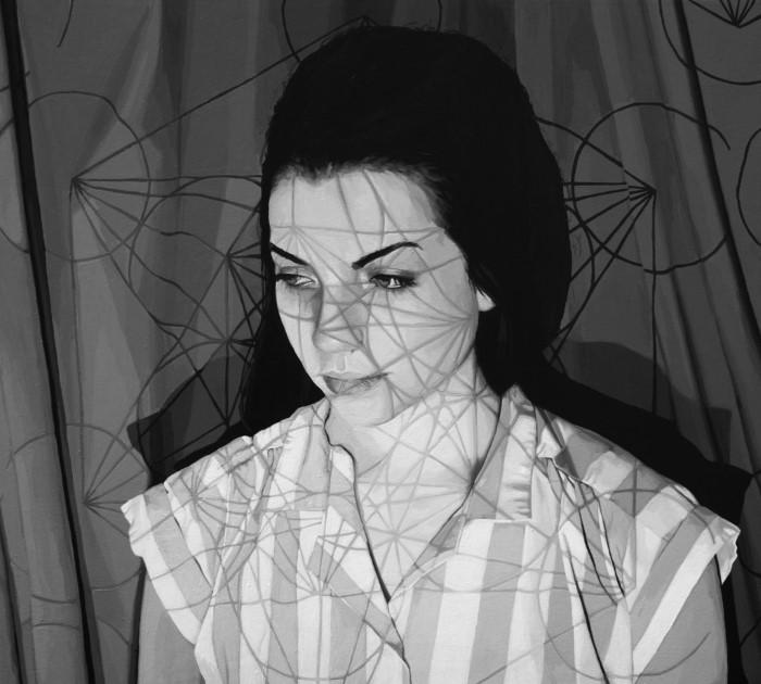 Черно-белая портретная живопись