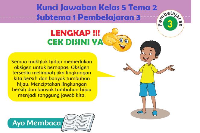 Lengkap Kunci Jawaban Kelas 5 Tema 2 Subtema 1 Pembelajaran 3 Jawaban Tematik Terbaru