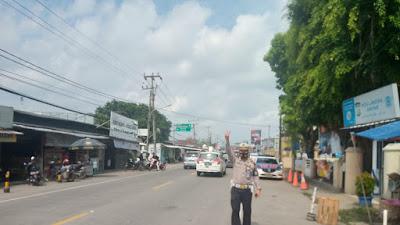 Ditalntas Polda Banten Laksanakan Patroli Penegakan Prokes di Tempat Wisata Anyer