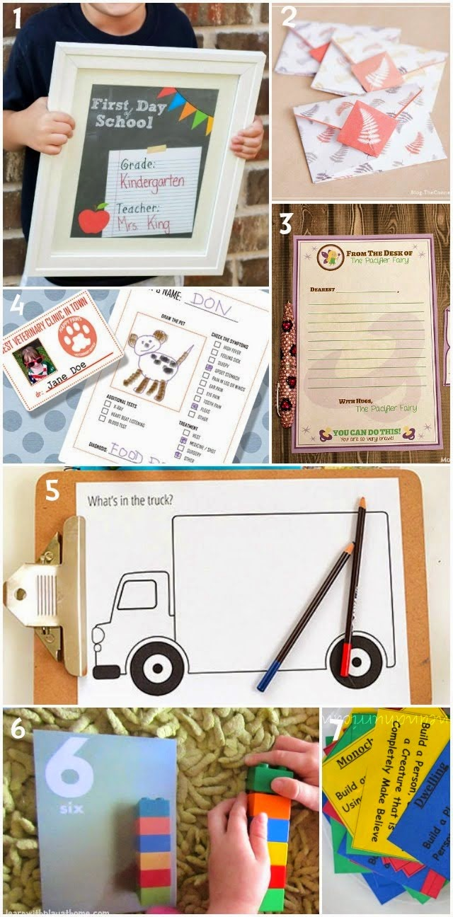 Learn with Play at Home: 7 free kids printables
