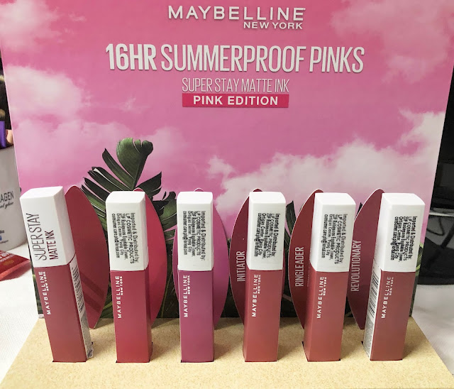 a photo of Maybelline Super Stay Matte Ink Summer Proof Pinks