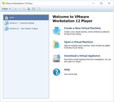 Screenshot VMware Workstation Player 12.5.7 Build 5813279 Commercial