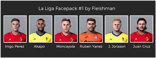 La Liga Facepack #1 For eFootball PES 2021