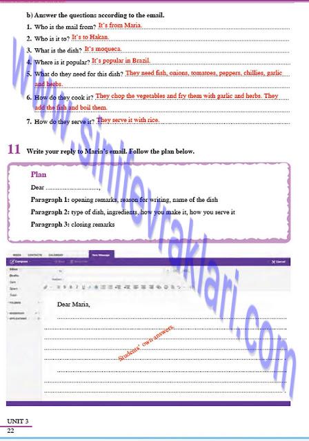 8. Sınıf İngilizce Çalışma Kitabı Cevapları Tutku Yayınları Sayfa 22