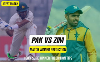 100% Sure Test Zim vs Pak 2nd Match Who will win Today? Cricfrog