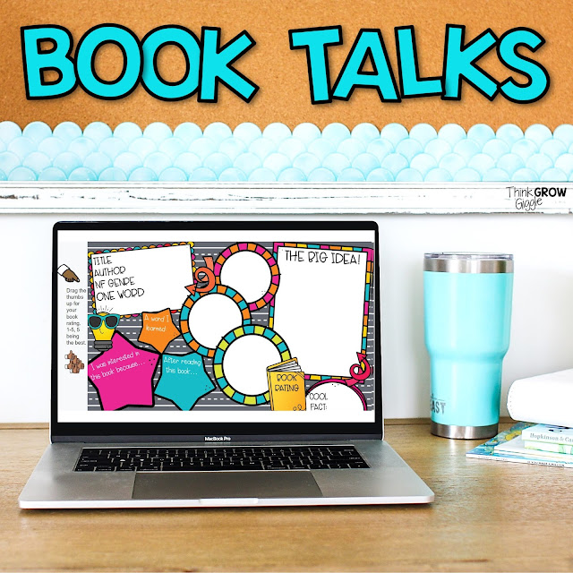 digital book talk templates for upper elementary