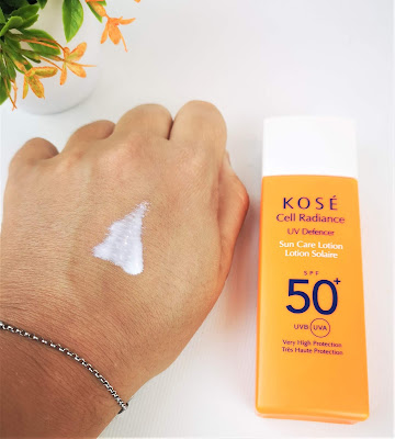 KOSE CELL RADIANCE UV DEFENCER SUN CARE LOTION 50+